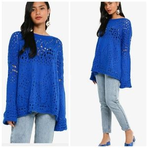NWT  Free People Traveling Lace Sweater
